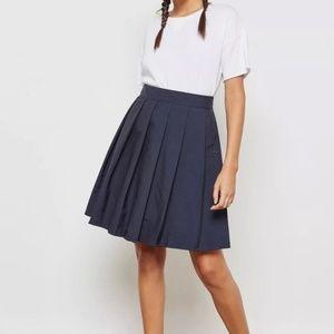ADIDAS Originals Womens Retro Pleated Navy Skirt S